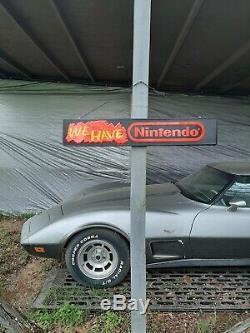 Nintendo store display sign