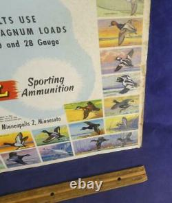 Old 1950s Federal Sporting Ammunition Store Display Poster Sign Wildfowl Ducks