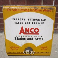 Orig c1952 ANCO Windshield Wiper & Arm Store Display Cabinet Auto Repair Shop