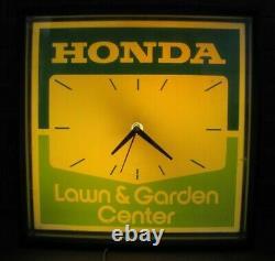 Original HONDA LAWN & GARDEN CENTER Advertising Store Display Sign Clock
