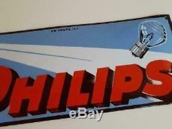 Original Philips Enamel / Porcelain Advertising Sign Emaille Plaque 1930