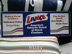 Original Vintage Lance Metal Sign