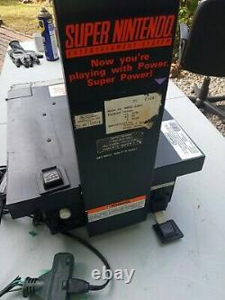 Original Working Super Nintendo Store Display SNES Kiosk sign RARE