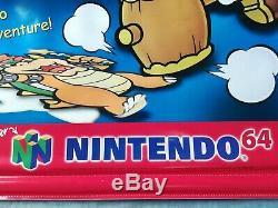 PAPER MARIO N64 VINYL BANNER Sign Store Display Nintendo 64 Promo ULTRA RARE