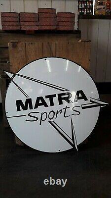 PLAQUE EMAILLEE MATRA sports 50 cm enamel sign emaischild