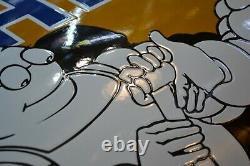 PLAQUE EMAILLEE MICHELIN paradis 80 cm emaischild email enamel sign