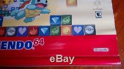 POKEMON PUZZLE LEAGUE N64 VINYL BANNER Sign Store Display Nintendo 64 Promo RARE