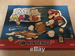 Paper Mario Nintendo 64 N64 Vinyl Banner Store Display Sign Rare Promo RPG