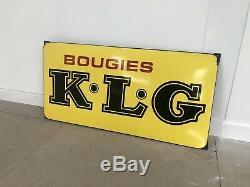 Plaque Emaillee Bougie KLG Ancienne Enamel Sign Emailschild Publicitaire