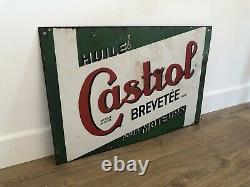 Plaque Emaillee Castrol Enamel Sign Emailschild Insegna Ancienne Yacco Shell Bp