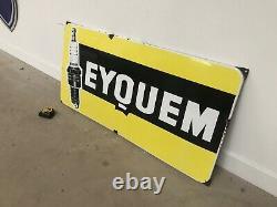 Plaque Emaillee Eyquem Bougie Emailschild Enamel Sign Insegna Porcelain