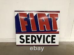 Plaque Emaillee Fiat Service Ancienne Enamel Sign Emailschild Insegna Smaltata