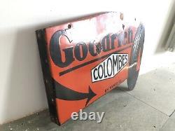 Plaque Emaillee Goodrich Ancienne Enamel Sign Emailschild Insegna Pneu Tire