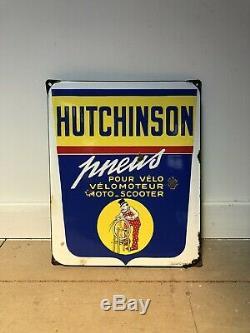 Plaque Emaillee Hutchinson Ancienne Enamel Sign Emailschild
