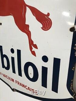 Plaque Emaillee Mobiloil Pegas Mobilgas Emailschild Enamel Sign