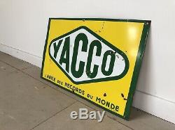 Plaque Emaillee Yacco Ancienne Enamel Sign Emailschild