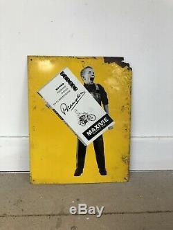 Plaque Tole Maxivie Ancienne Velo Publicitaire No Emaillee Enamel Sign