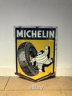 Plaque Tole Michelin Ancienne No Emaillee Enamel Sign