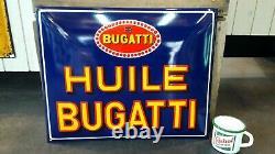 Plaque émaillée Bugatti Huile enamel sign emailschild