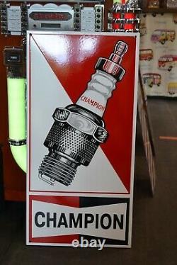 Plaque émaillée CHAMPION Bougie garage enamel sign