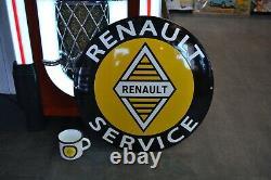 Plaque émaillée Renault 50 cm emailschild enamel sign