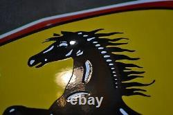 Plaque émaillée bombée Ferrari 60 cm enamel sign emaischild