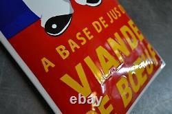 Plaque émaillée kub 1 mètre enamel sign emailschild