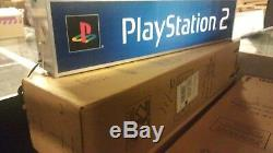 PlayStation 2 NEW IN BOX Vintage PS2 Store Promo LIGHTED DISPLAY SIGN Light Box