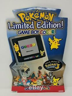 Pokemon Gold Silver Gameboy Color GBC Promo Store Display Standee Sign LE VTG