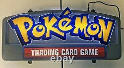 Pokemon TCG 20th Anniversary Store Retail Display Sign USED WORKING F3