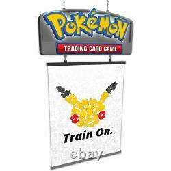 Pokemon TCG Hobby Sign 20th Anniversary Train On Store Retail Display Sign LED