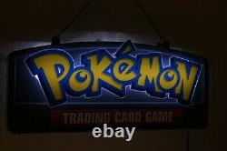 Pokemon TCG Retail Store Sign LIGHTS UP! LED 19 x 9