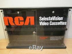 Promotional SelectraVision RCA Locking VHS In-Store Cabinet Display Case