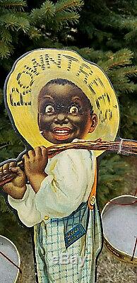 RARE 1920s ROWNTREES CHOCOLATE GUM BLACK AMERICANA GENERAL STORE LITHO DISPLAY