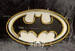 RARE AUTHENTIC DC Batman Sign Video Game Comic Book Store Display Lighted NEON