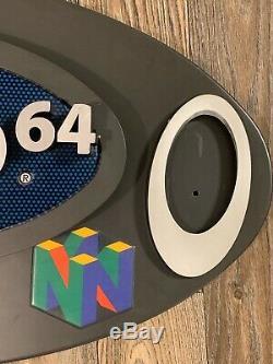 RARE AUTHENTIC Nintendo 64 Kiosk Header Sign Game Store Display N64 Bracket Inc