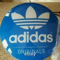 RARE Adidas Originals Round Light Sign Store / Convention Wall Display 13