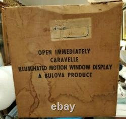 RARE BULOVA Caravelle Illuminated Motion Window Display Vintage 50's Advertising