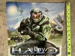 RARE Halo Combat Evolved (Xbox) Promotional Store Display Sign (Bungie Part No)