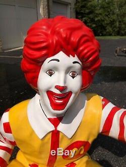 RARE McDonalds Ronald McDonald Life Size Store Statue Display