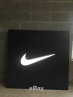 RARE Nike Outlet Light Up Swoosh Metal Sign 4' x 4'2'' LOCAL PICKUP ONLY