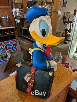 RARE Signed Walt Disney Donald Duck Store Display Figurine Statue 20 LARGE