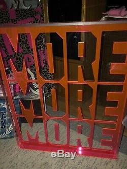 RARE Victorias Secret Heavy Plexiglass Store Display Sign Prop MORE MORE MORE