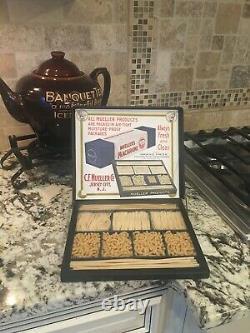 RARE! Vintage Mueller Noodles Salesman Sample Sign Advertising Display Mint