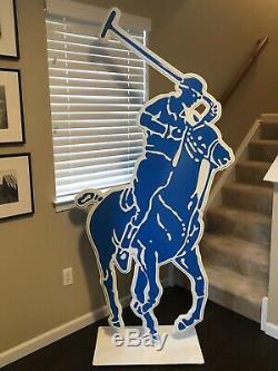 Ralph Lauren 3D Store Display Huge 84 Polo Jockey Vintage Man Cave Big