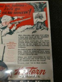 Rare 1920's Vintage Winchester Western. 22 Sign Store Display Poster 25 X 19