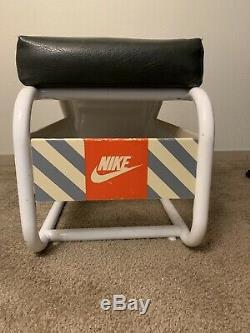 Rare Original 1980s Nike Air Max Store Display Sign Vntg Jordan Bench Stool SB
