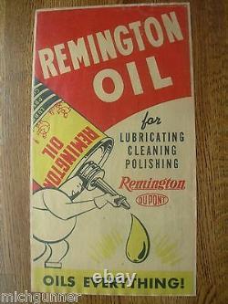 Rare Remington Dupont Oil Poster Store Display Window Display