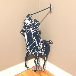 Rare Vintage 90s Polo Ralph Lauren Metal Store Display Sign Huge 33 Pony Jockey