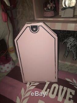 Rare Vintage Victorias Secret pink Wooden Store Display Sign Tag Prop